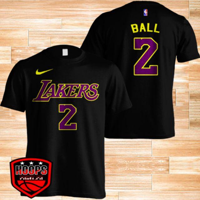 ab57665605c NBA LOS ANGELES LAKERS LONZO BALL BLACK SHIRT