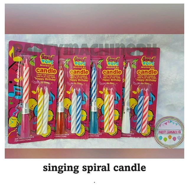 Singing Birthday Candle With Extra 2