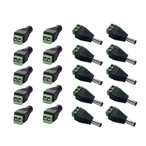 40pc Pair DC Power Male//Female  Jack Connector CCTV SECURITY CAMERA