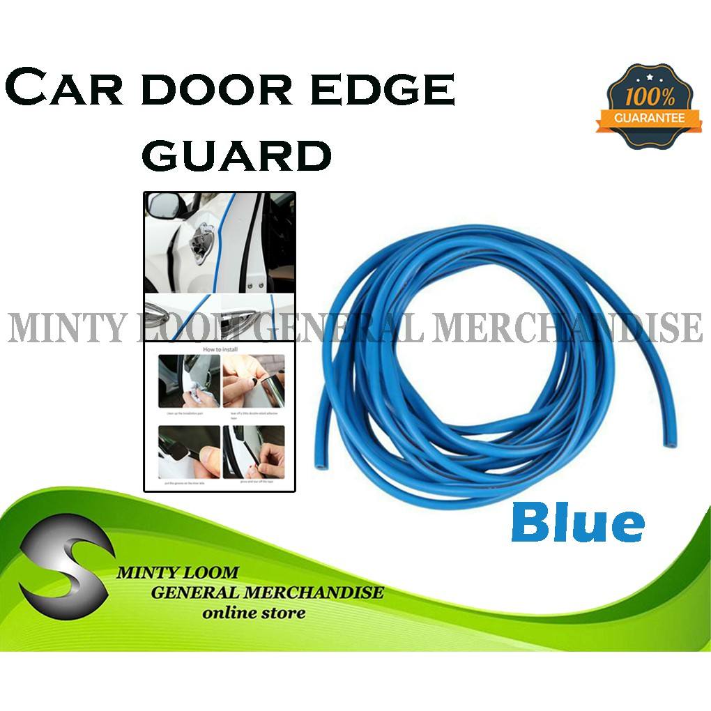 White 16ft 5M U Shape Rubber Seal Car Door Edge Guards Trim Protector Strip with Internal Double Sided Tape