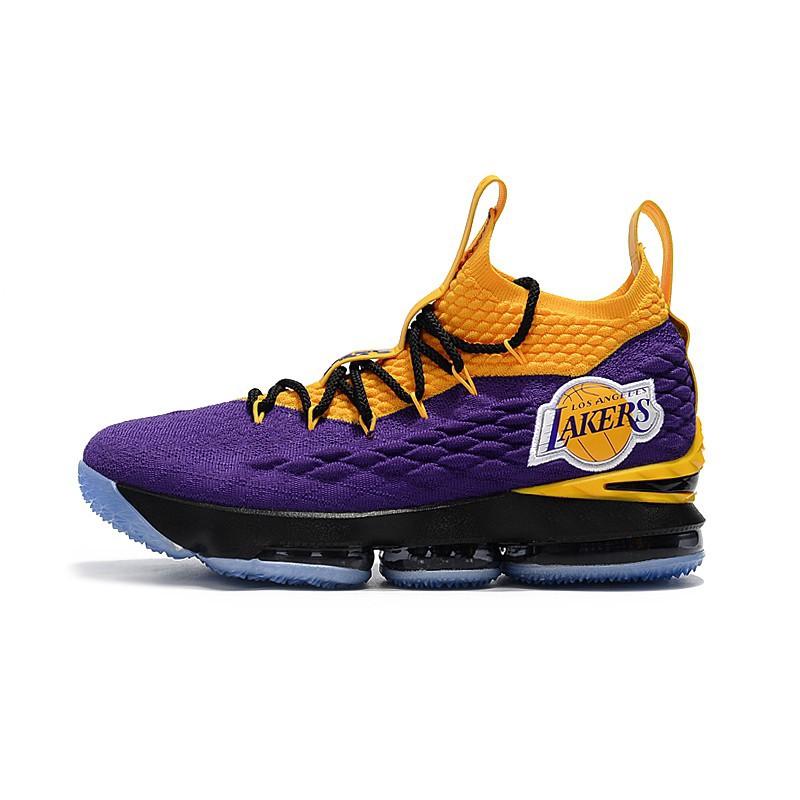 info for b8703 1d8a7 Nike LeBron 15 Lakers Purple Yellow men sports shoes basketb