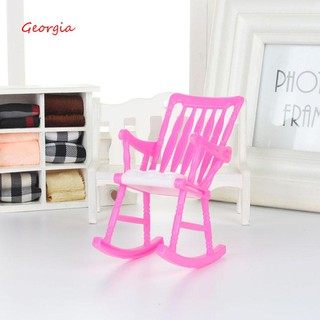 Sensational Georgiamini Plastic Miniature Doll Furniture Rocking Chair Model Toy Gift For Dollhouse Gmtry Best Dining Table And Chair Ideas Images Gmtryco