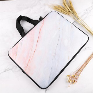 423f9f96910d Marble Print Soft Laptop Bag Macbook Sleeve case with Handle For ...