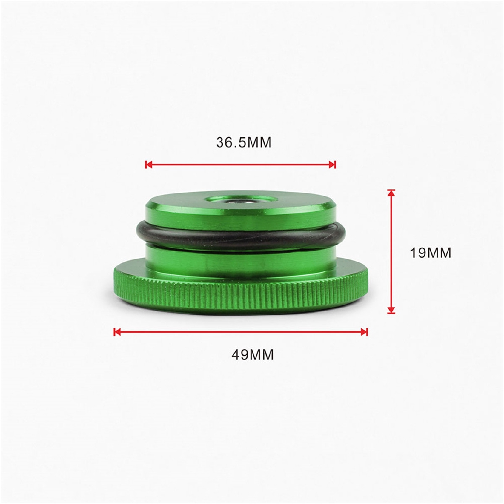 Billet Aluminum Fuel Cap Magnetic Red Permanent Cap for 2014 Ram 3500 Cummins