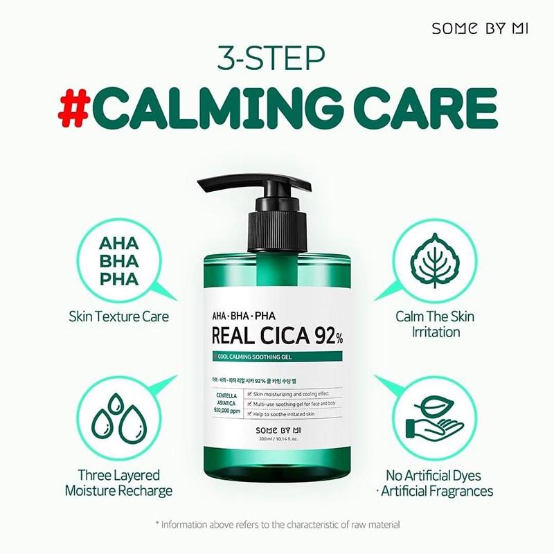 SOMEBYMI AHA BHA PHA Real Cica 92% Cool Calming Soothing Gel 300ml | Shopee  Philippines