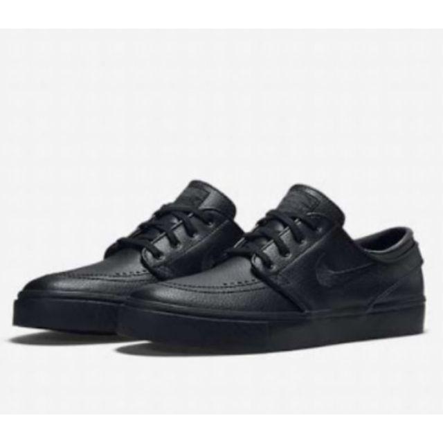 rural cobija Púrpura  Nike SB Stefan Janoski Black & Anthracite Leather | Shopee Philippines