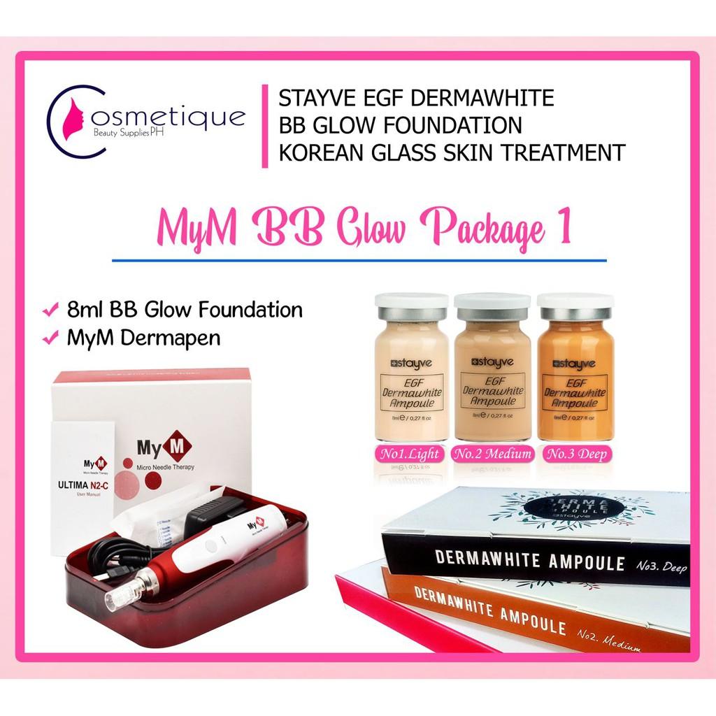 MYM Dermapen Stayve Derma bb glow package 1 wid Instruction