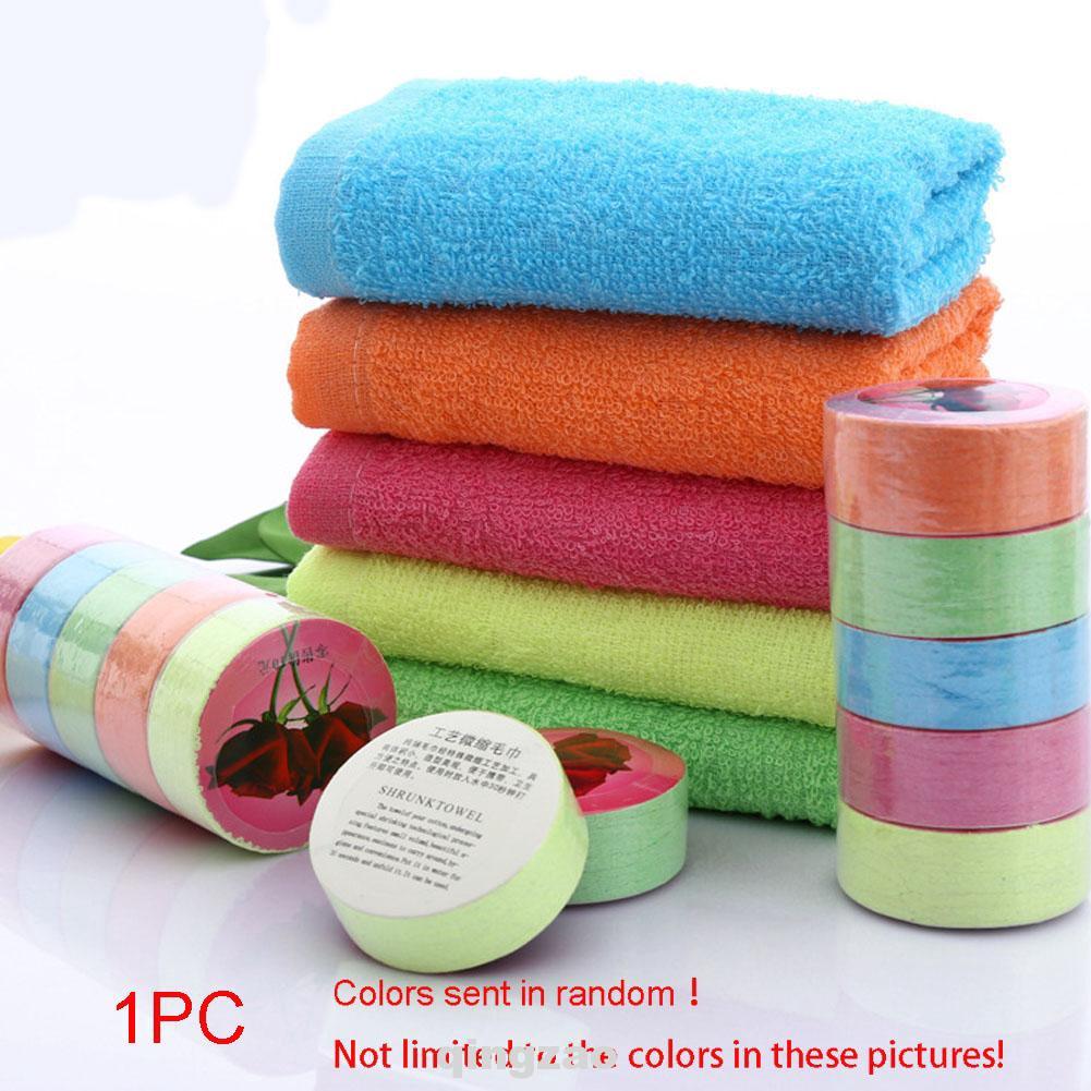 1X Portable Magic Mini Compressed Towel Cotton Face Washcloth Travel Reusable