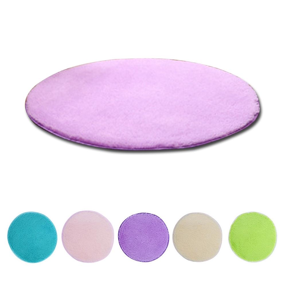 38cm*38cm Home Living Room Bedroom Circle Round Soft Shaggy Rug Carpet Floor Mat