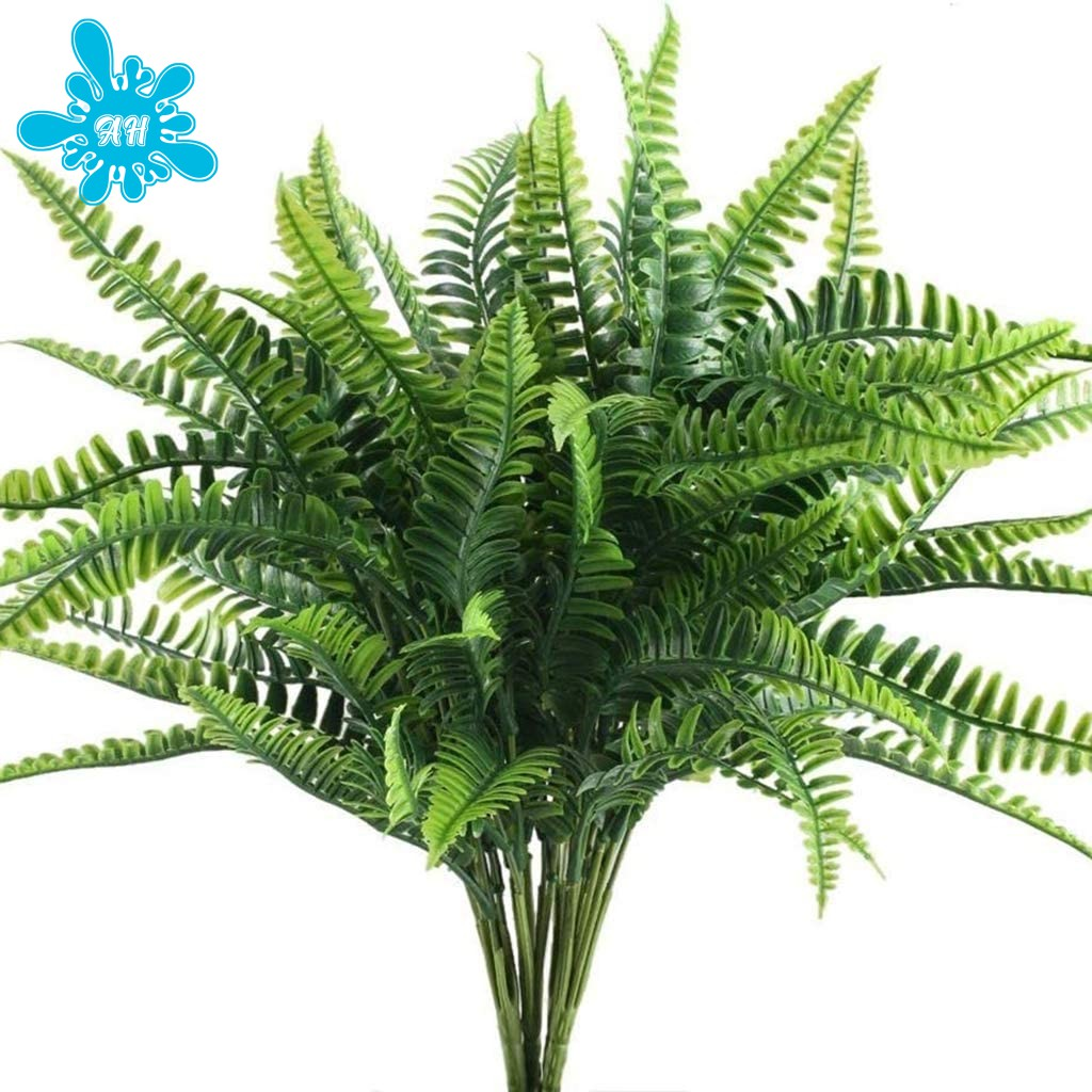 Lifestyle Artificial Plant Fern Shrub Plant Shrub For Outdoor Garden Office Balcony Wedding Decoration 10 Bunches Shopee Philippines