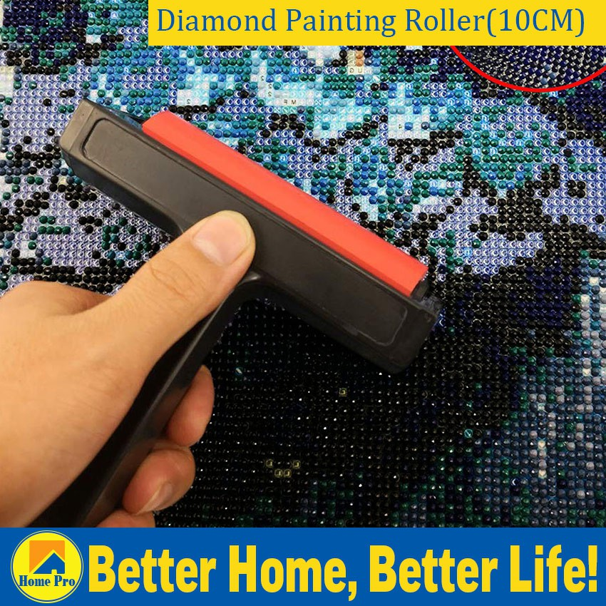 2 in 1 Design Wooden Roller for Diamond Painting Rhinestone Embroidery Ceramic for Craft Clay Easy Painter Diamond Painting Accessories Pottery Clay Working