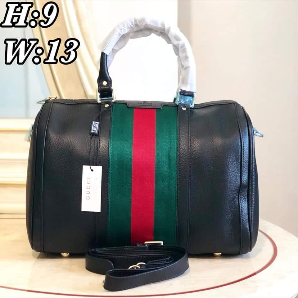 1e8f555e3bf2 Gucci Vintage Wed Leather Boston Bag | Shopee Philippines