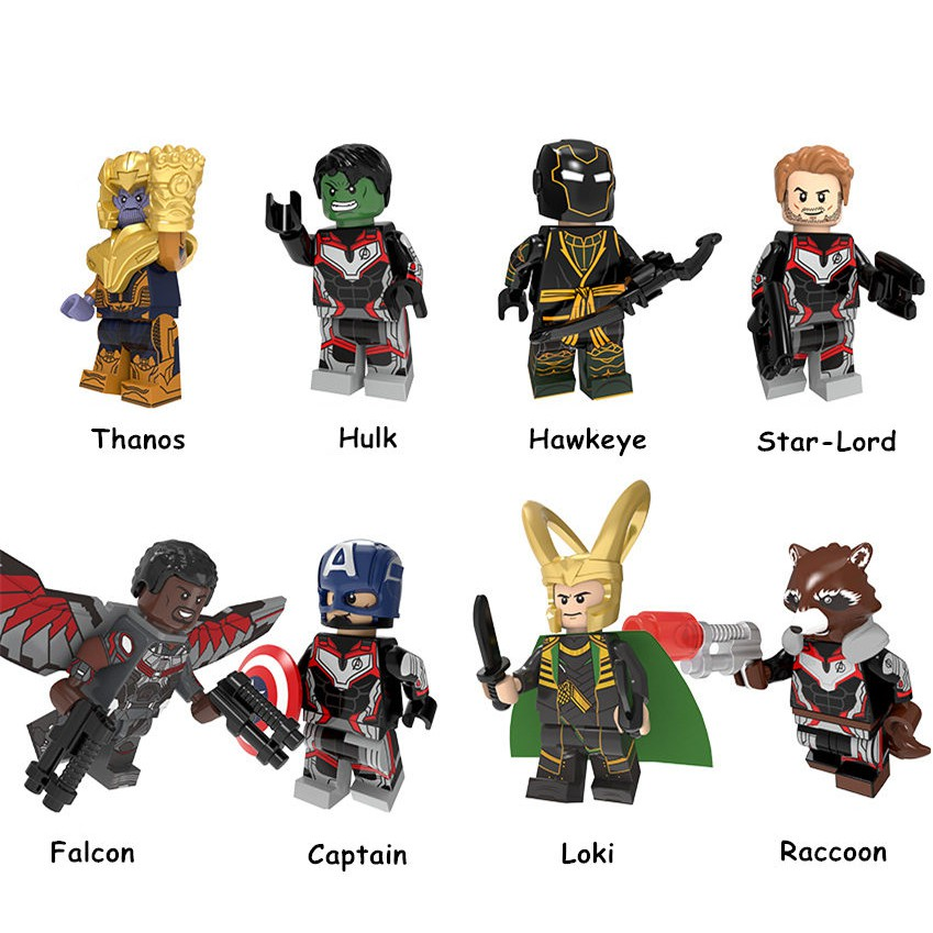 8pcs Avengers Endgame Set Minifigures Lego Compatible Pg8229 Mini Figure Toys Shopee Philippines