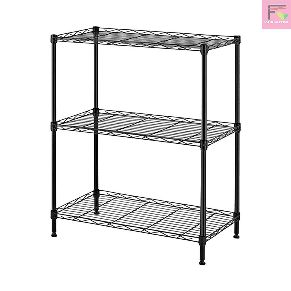 F L 3 Tier Shelf Shelving Storage Unit Metal Organizer Wire Rack Carbon Steel Kitchen Stand Storage Shelf Shopee Philippines