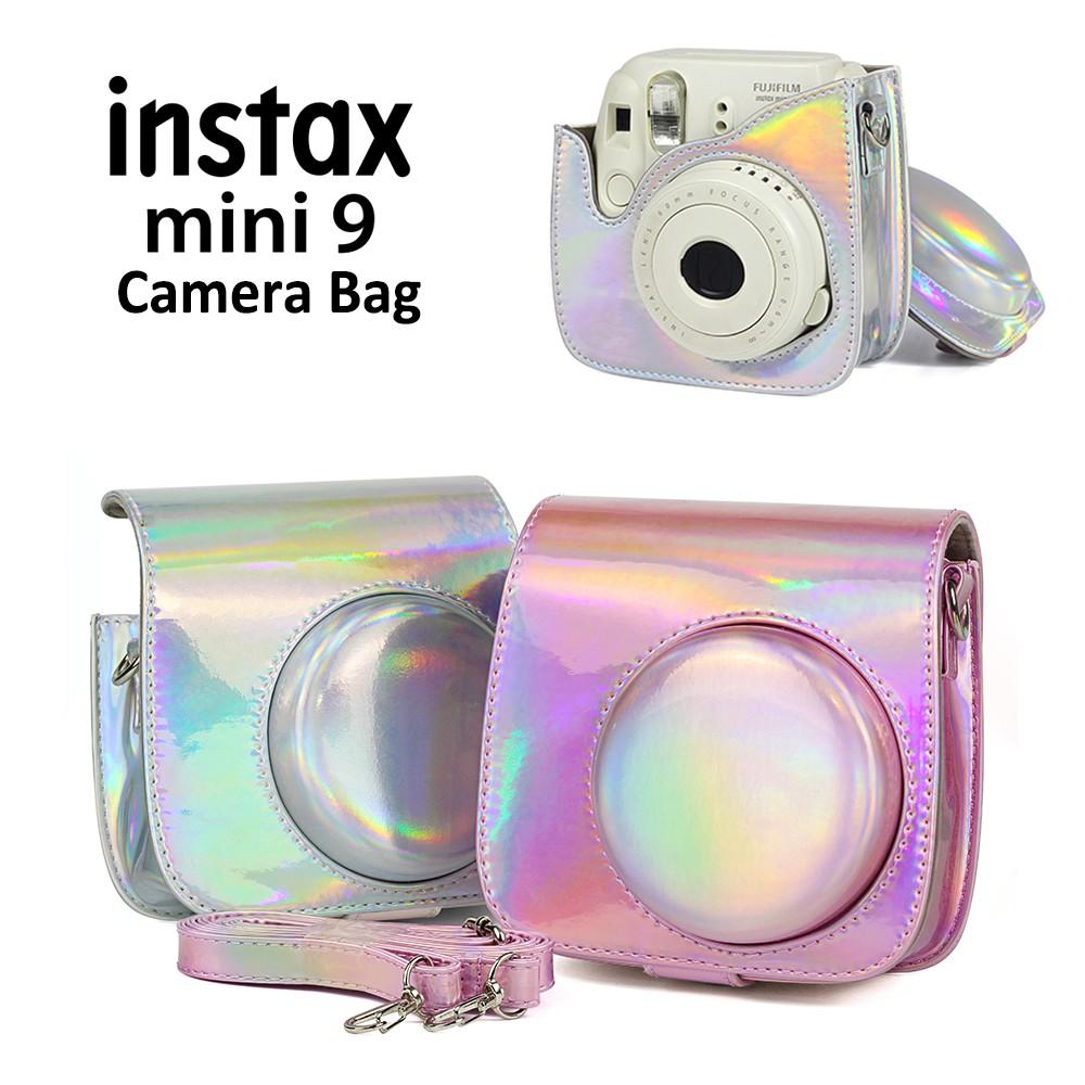 Hot For Fujifilm Fuji Instax Mini 8 9 Film Camera Case PU Leather Shoulder Bag