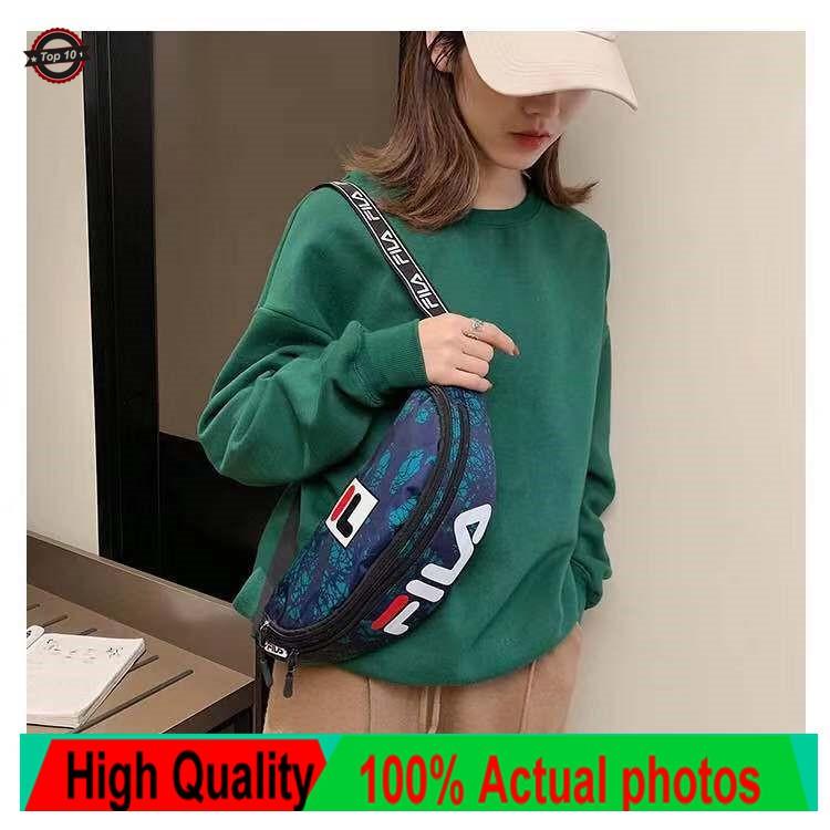 9face4aaf4ac Fashion FILA Letter Print Chest Bag Unisex Women/Men Casual Sport Travel  Waist Bag