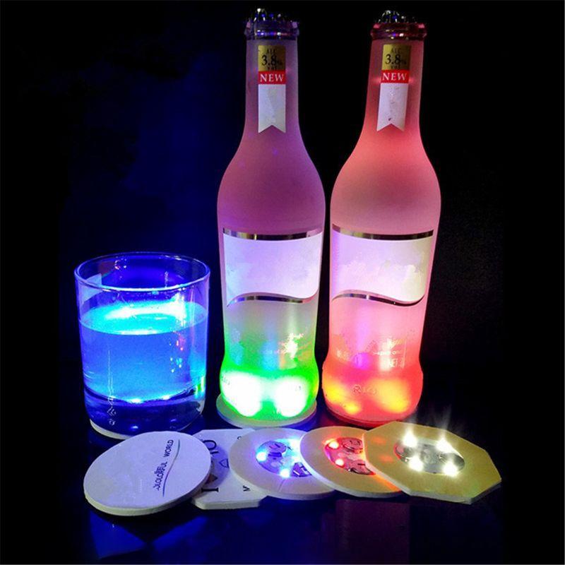 LED Coaster Light Up Coasters LED Bottle Lights Bottle Glorifier LED  Sticker | Shopee Philippines