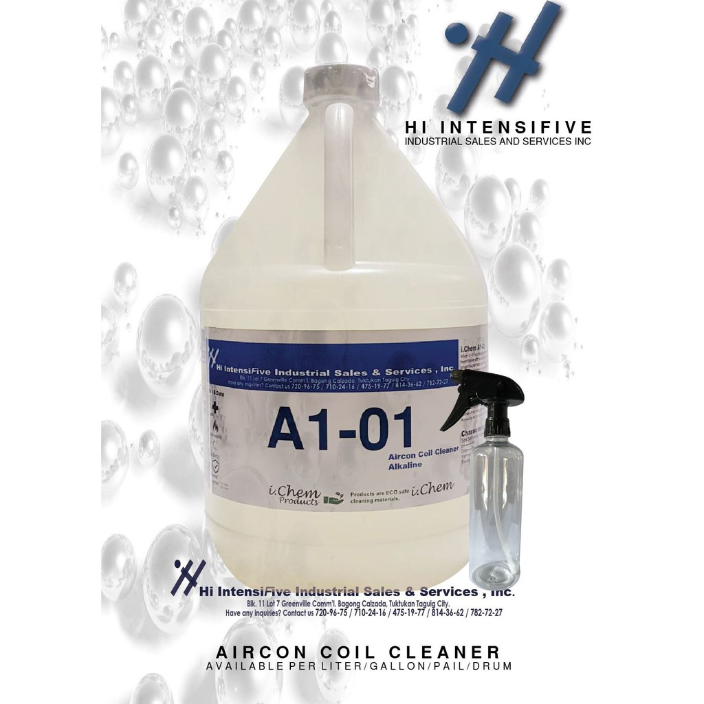 AIRCON COIL CLEANER GALLON (With Spray Bottel)_HI-INTENSIFIVE PRODUCTS