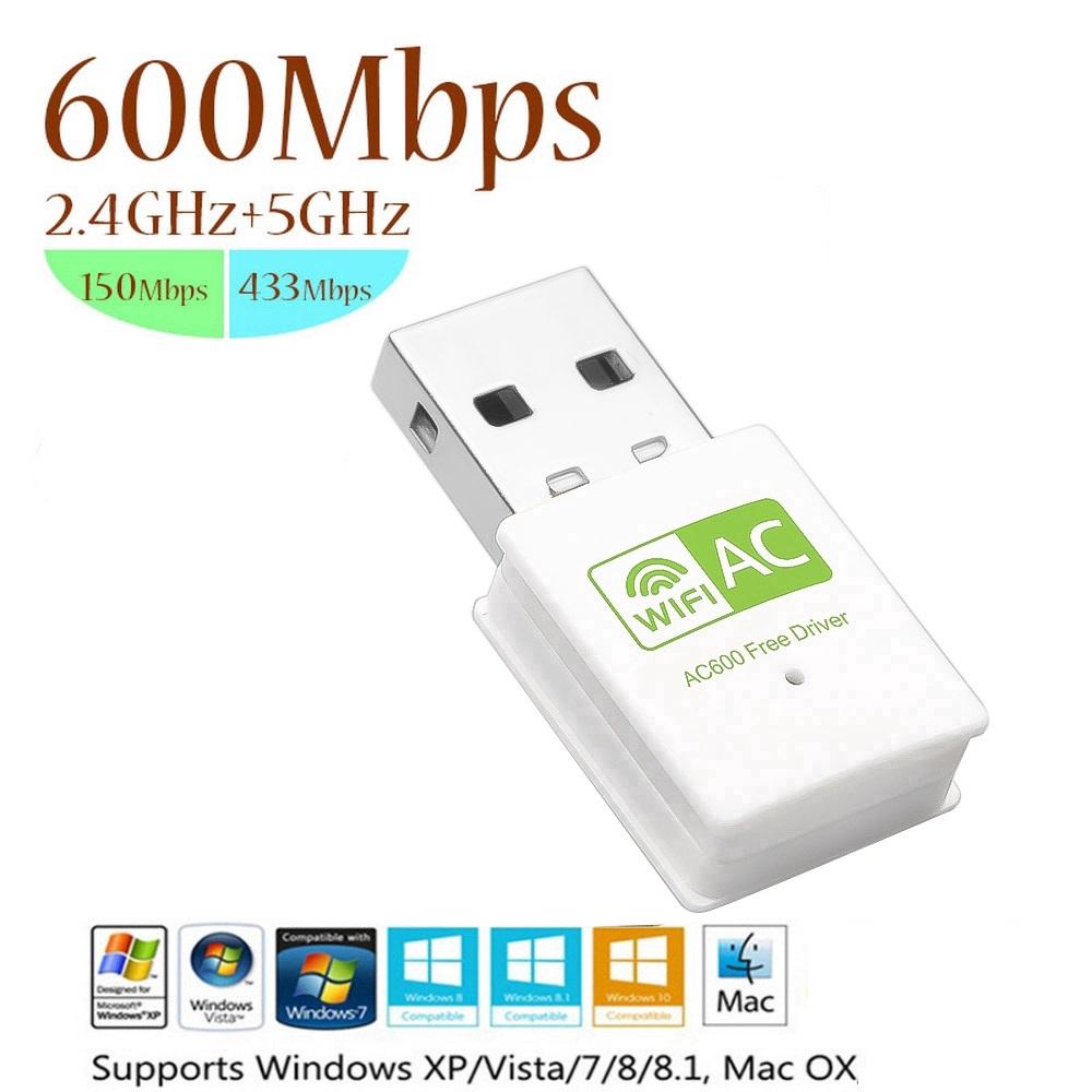 USB Wireless Antena LAN Network Card Wifi Receiver 600Mbps