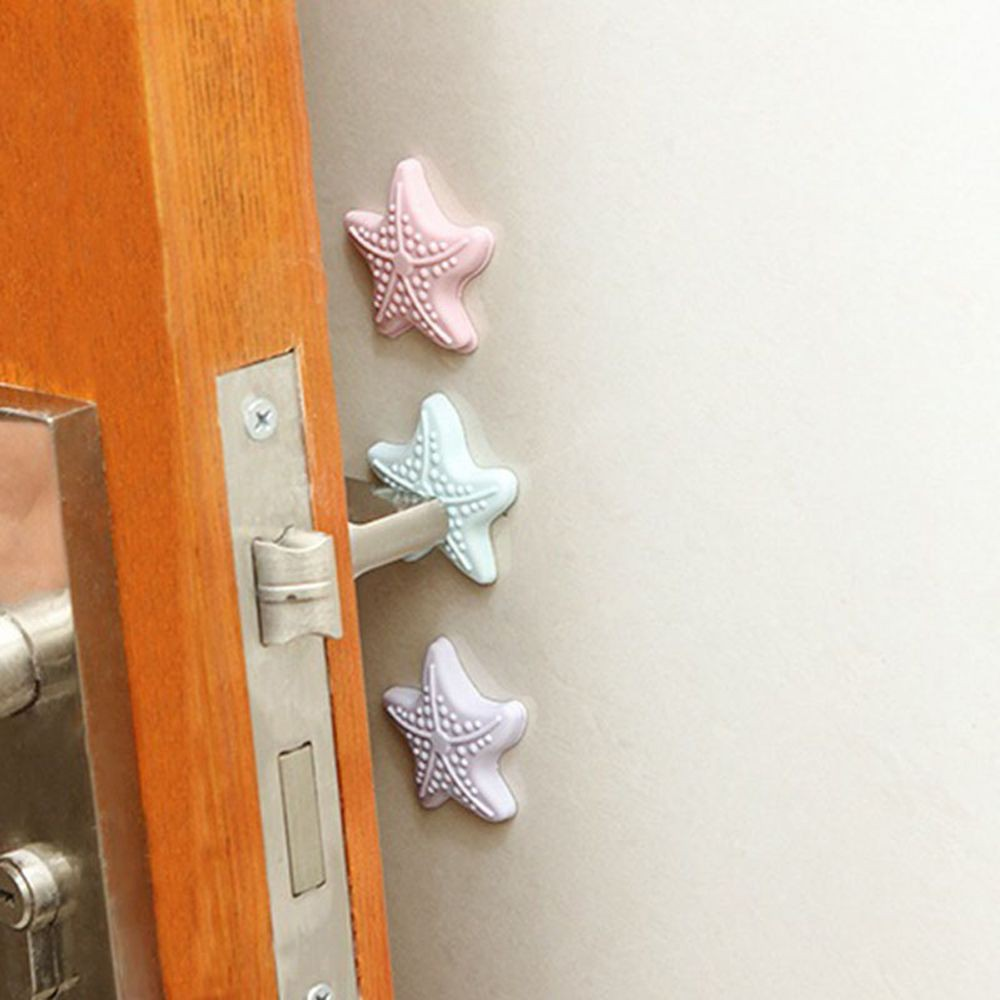 Thickening Mute Starfish Shape Door Lock Protective Bumpers Handle Door Protective Sticker Buffer Guard Stopper Pad Sticker Novel In Design;