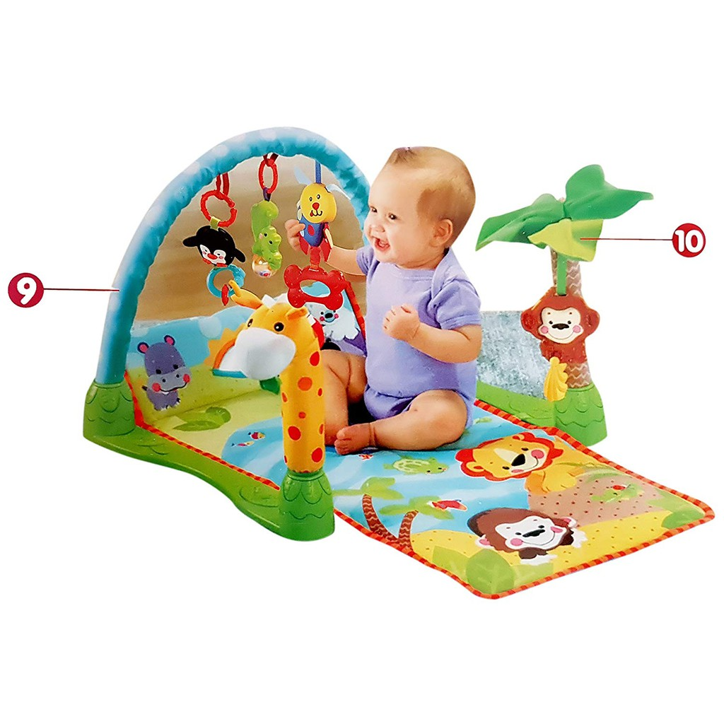 Baby Fitness Playmat Activity Baby Gym Play Mat Tummy Time Floor Mat