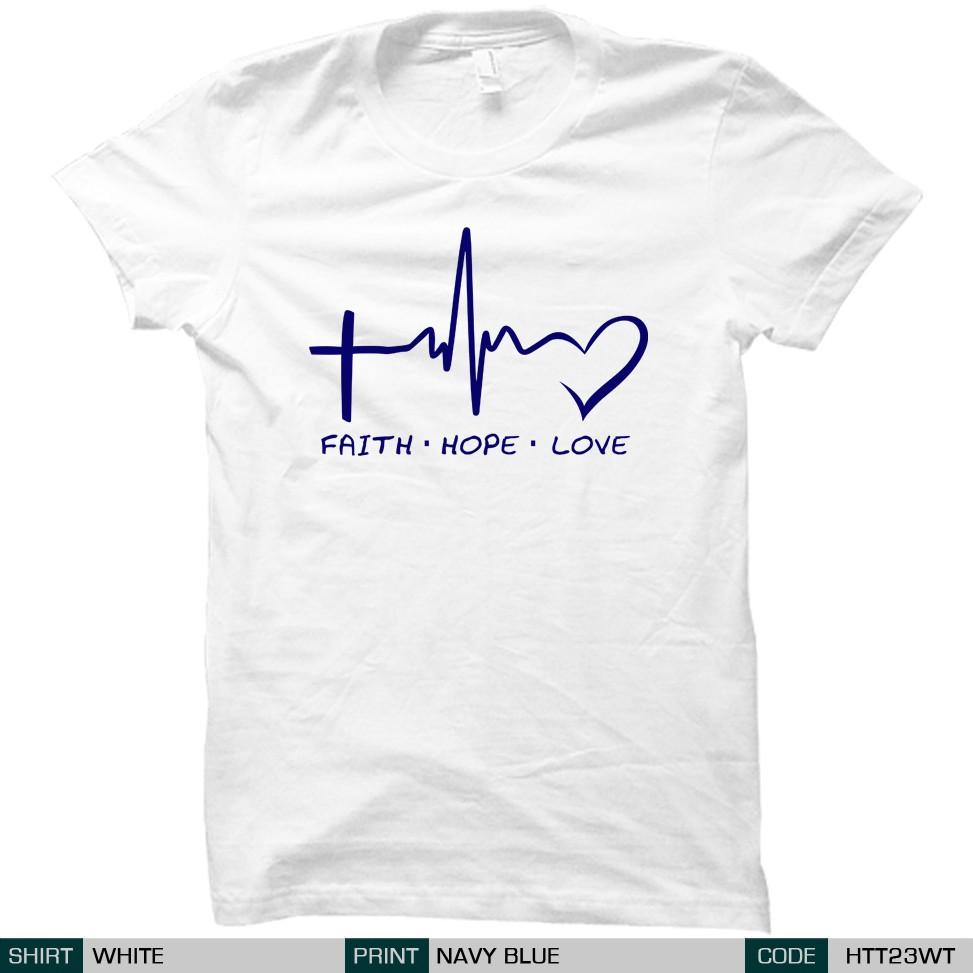 5872e69ede83 Christian - Faith Hope Love Shirt | Shopee Philippines