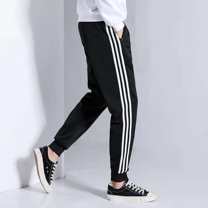 #xia775 new design joggerunisex plain makapal tela pants