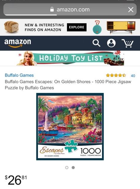 Buffalo Games Escapes On Golden Shores 1000 Piece Jigsaw Puzzle by Buffalo Games