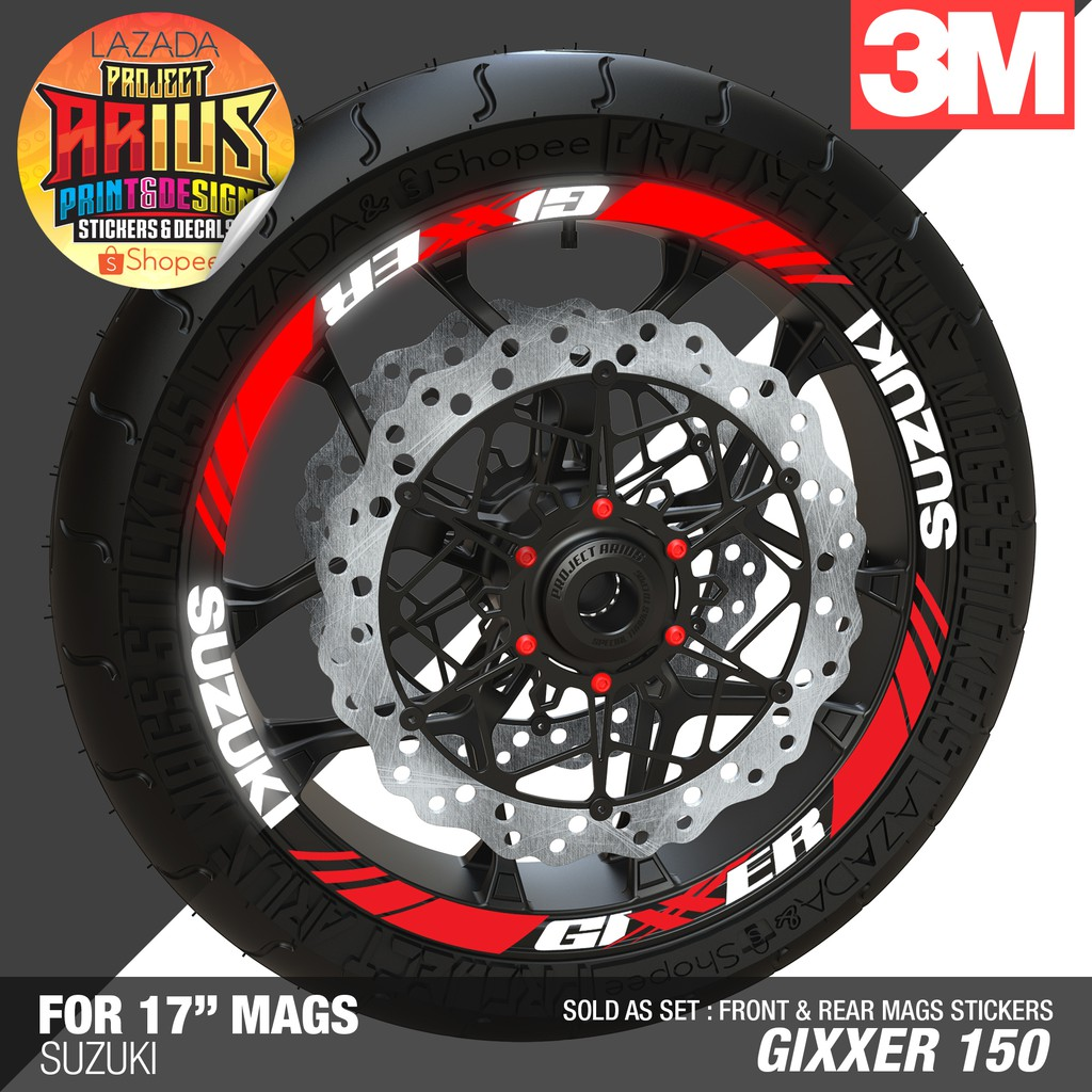 Pa honda xrm125 highly reflective mags sticker motard shopee philippines