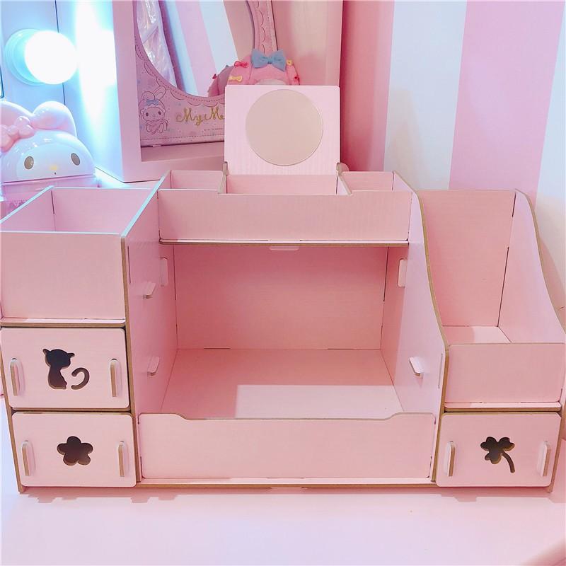 1 Pc Wooden Storage Box Desktop Vintage Exquisite Toy Storage Case for Dressers