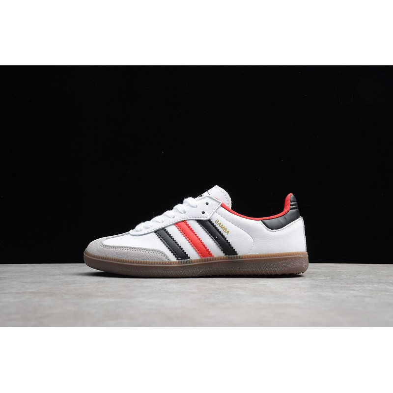 Empleador Luminancia Jane Austen  B75809 Adidas Samba White Black Red | Shopee Philippines