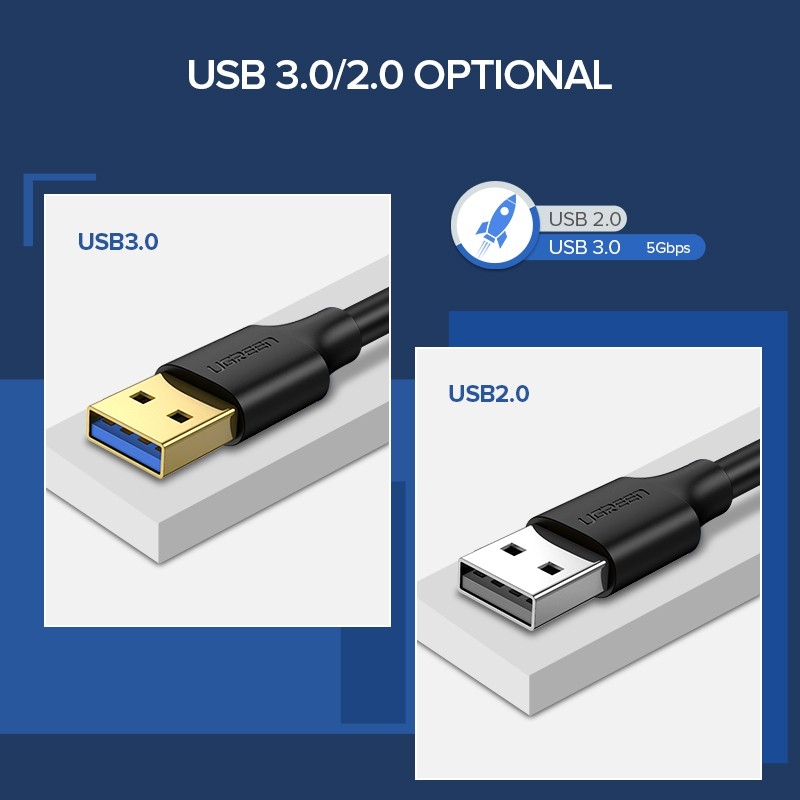 USB 3.0 Type A Male to Type A Male Extension Data Sync Cord BTC Mining Cable b