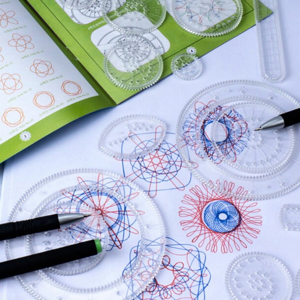 Original Spirograph Design 15 Piece Set Tin Draw//Drawing Kids Art//Craft Create