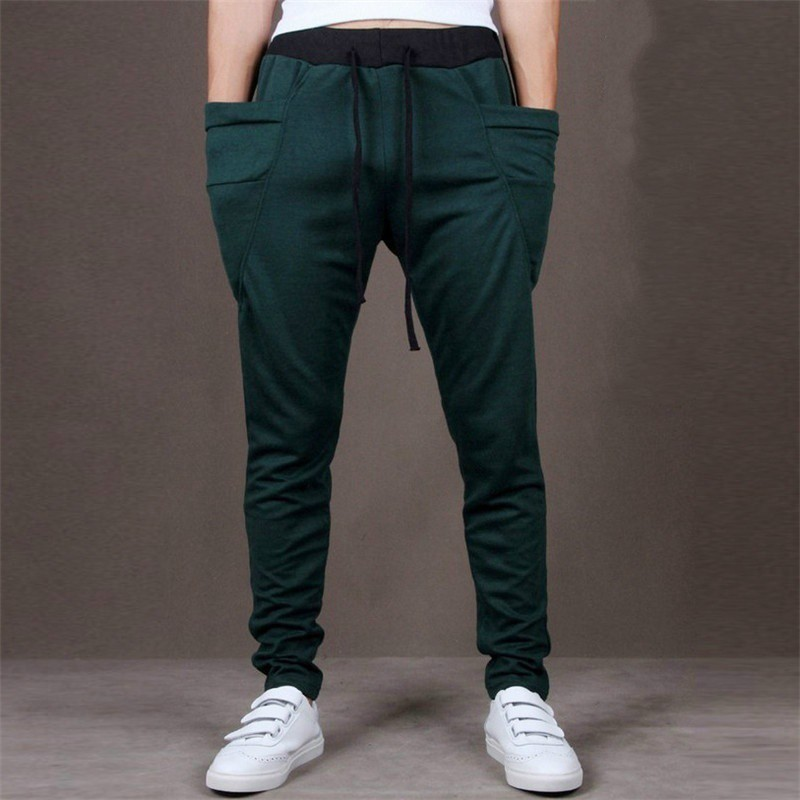 5b0ef0b81e5 Men Cotton Harem Pants Joggers Sweatpants For Men Wear B COD ...