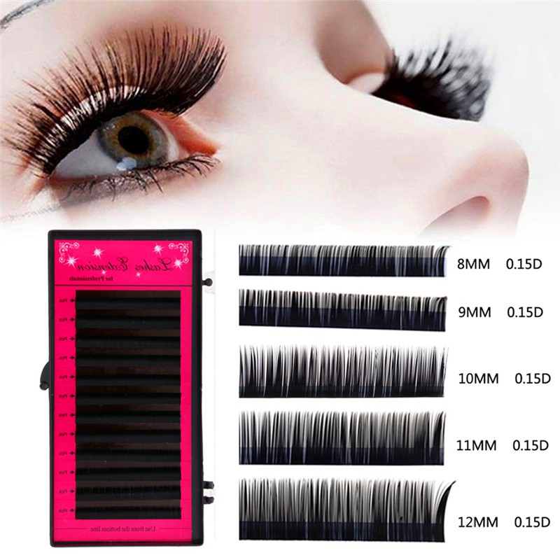 440f99df65d ProductImage. ProductImage. 0.15 Thickness D Curl Mink Hair Lashes  Individual Eyelash