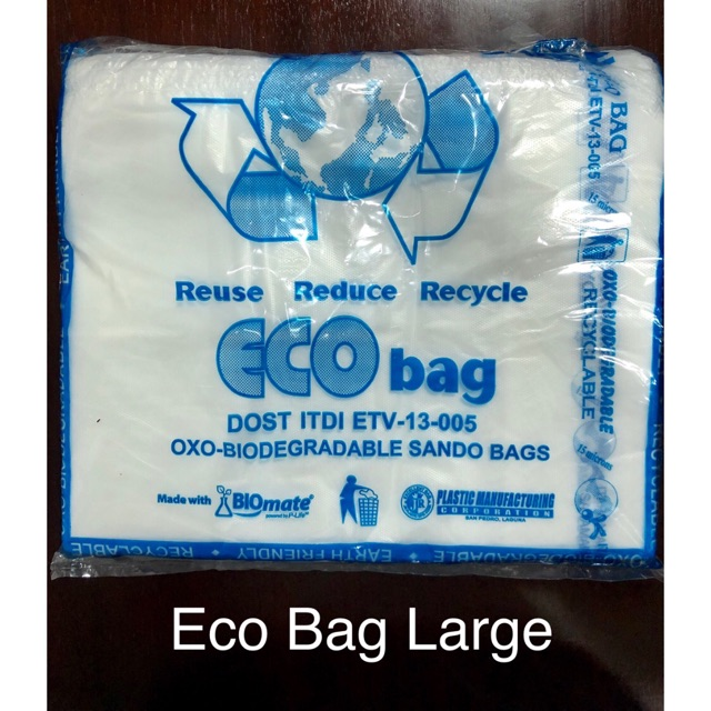 Large Sando Bag Blue Bio Eco Plastic Bag