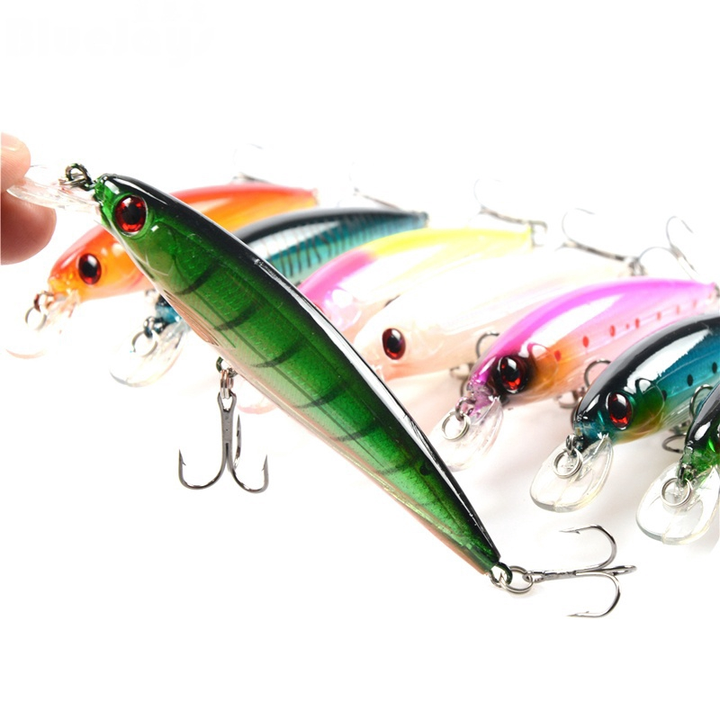 10 Pieces Fishing Lure Minnow Wobbler 11CM //13.5G Hard Baits Fishing Tackle