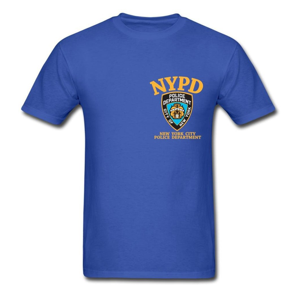 0795f00dc NYPD DIY Men T Shirt Cartoon Graphic 100% Cotton Short Sleeve T-Shirt Navy  Blue | Shopee Philippines