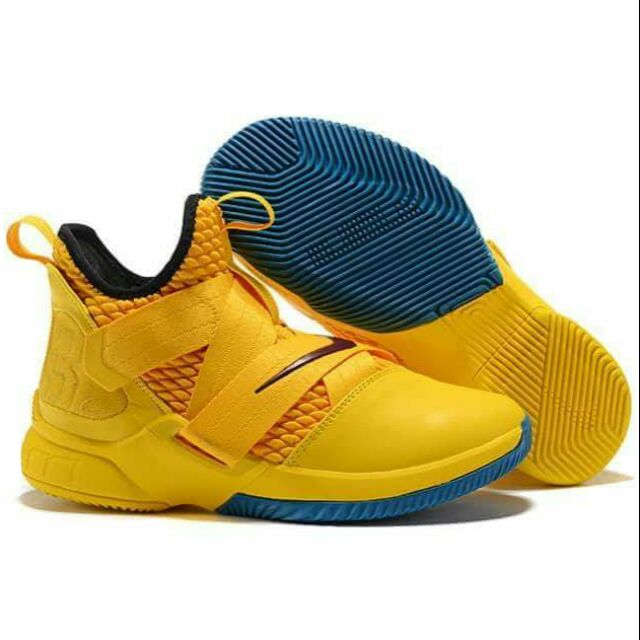 6712e147598e NIKE LEBRON SOLDIER 12 YELLOW FOR MEN OEM BASKETBALL SHOES