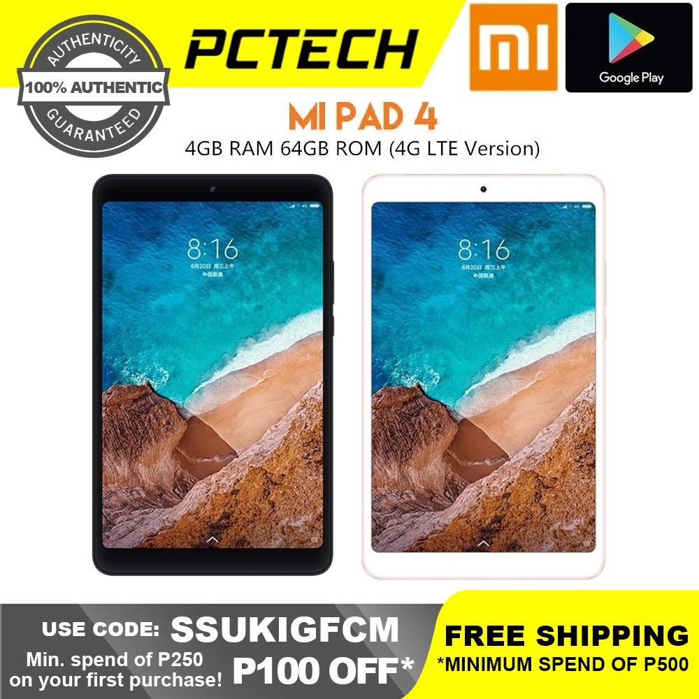 Xiaomi Mi Pad 4 Tablet 4GB RAM 64GB ROM Octa Core LTE