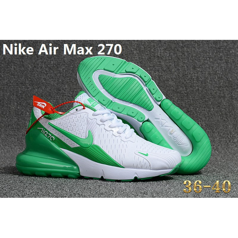release date: db754 f1294 Nike Air Max 270 Comfort Running Shoes for Women White/Green