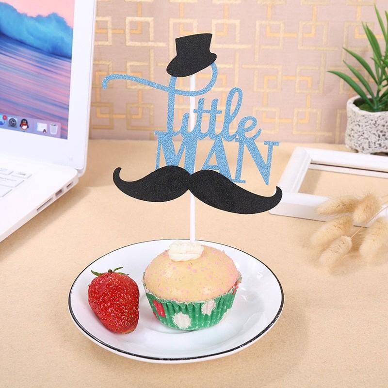 Miraculous Glitter Blue Mustache Cake Boy Birthday Cake Decoration Shopee Funny Birthday Cards Online Necthendildamsfinfo