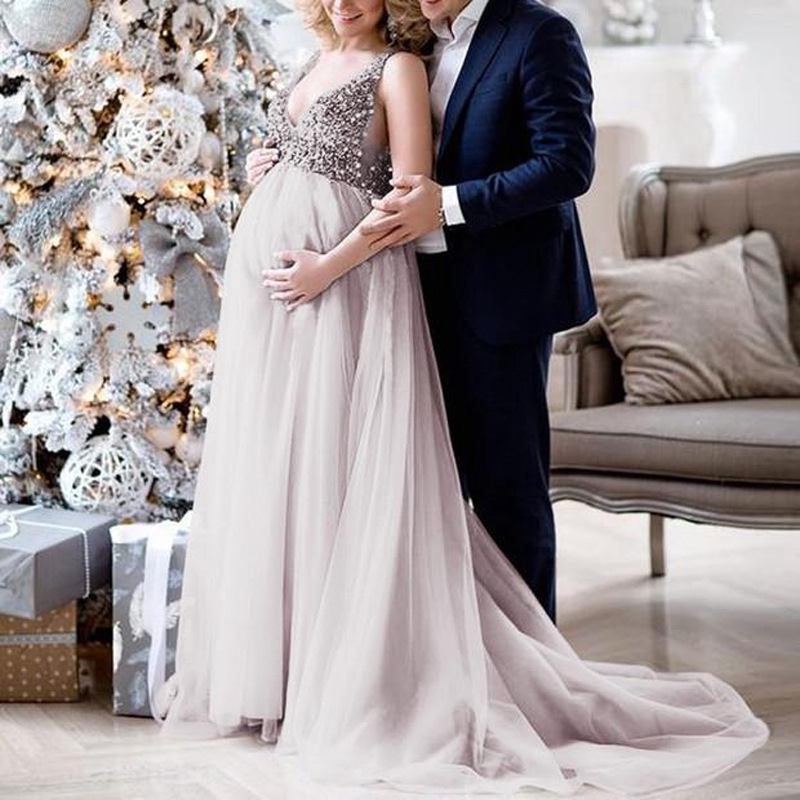 Wedding Dresses Sexy V Necktie Dresses For Pregnant Women Shopee Philippines,Summer Wedding Guest Dress
