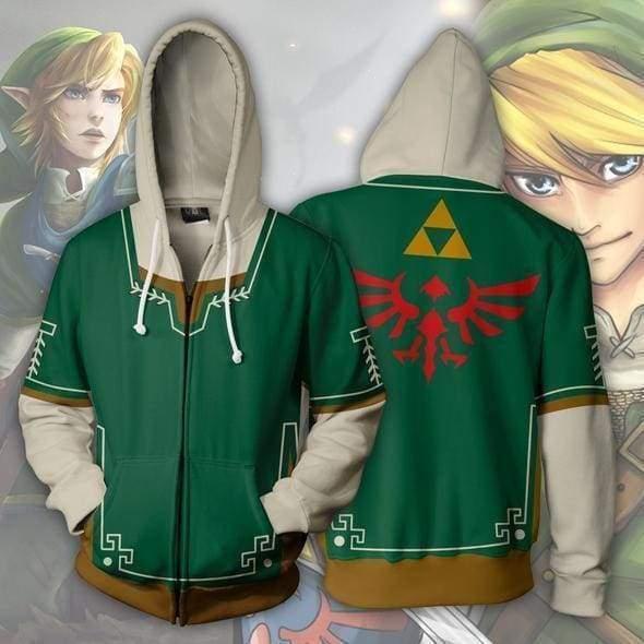 The Legend of Zelda: Breath of the Wild Cosplay Link Hoodies Casual Sports Coat Sweatshirt Costume