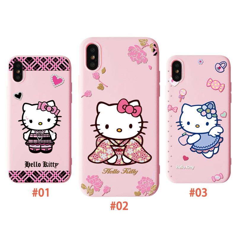 Hello Kitty Cartoon Case iPhone X 6/6S 7/8 6Plus Back Cover