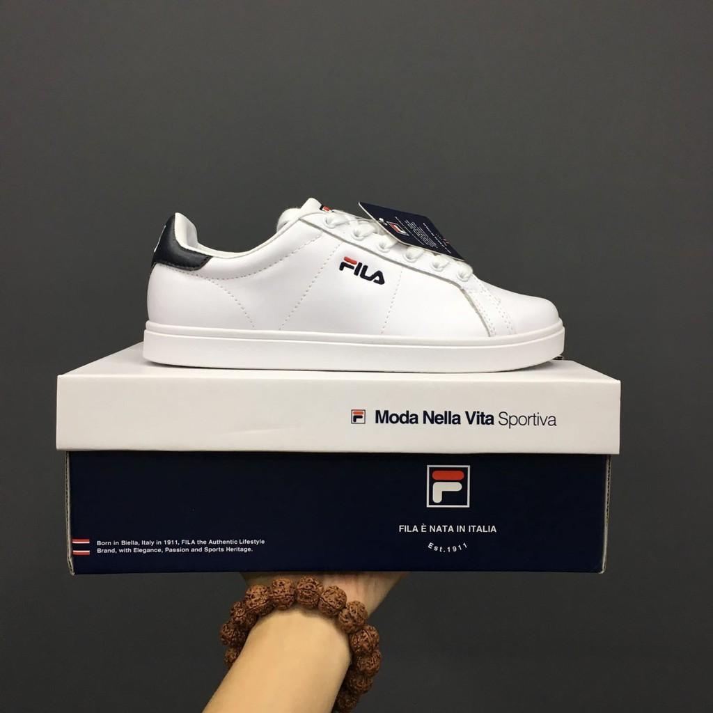 Dingp fila unisex men and women sakte school shoes white blue Sneakers