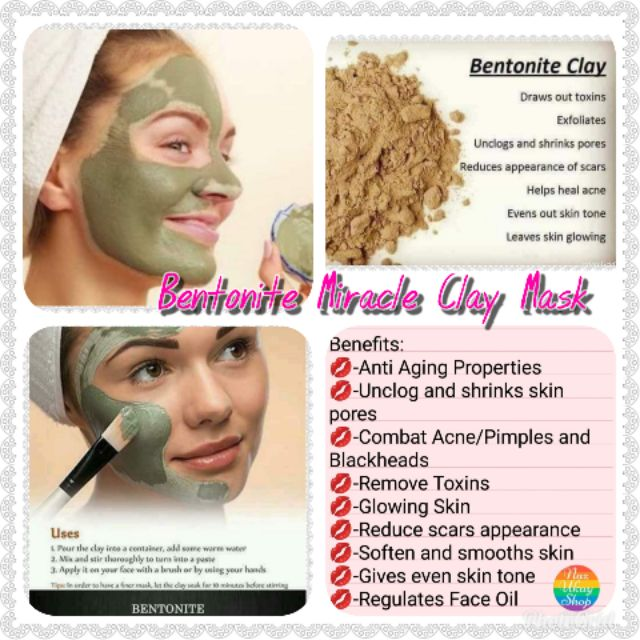 Buy 1 Take 1 Promo Bentonite Miracle Clay Mask 100g Shopee Philippines