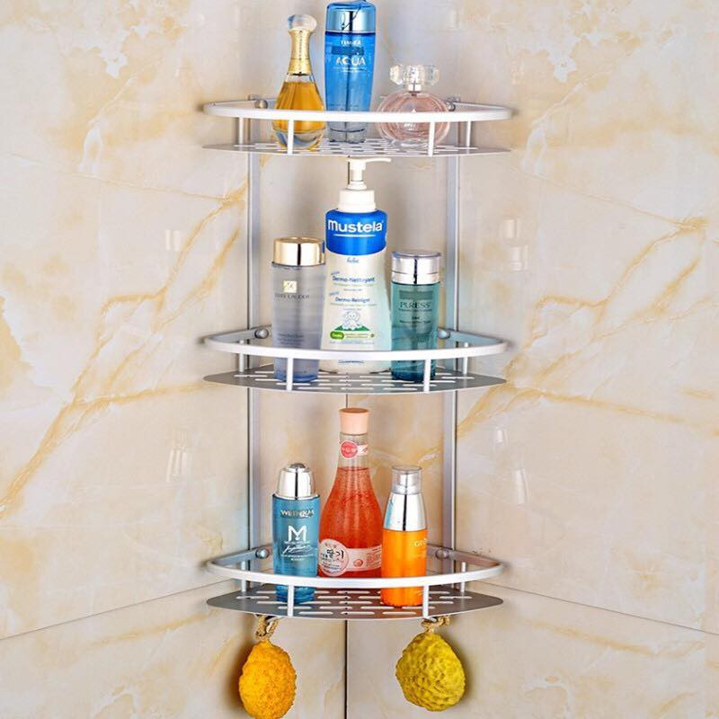 Wjf 3 Layer Bathroom Triangular Corner Organizer Shelves Rack With Hook Shopee Philippines