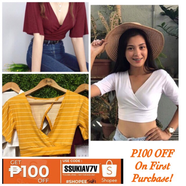 44bf337f8857c9 Shop Tops Online - Women's Apparel | Shopee Philippines