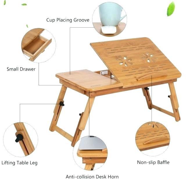 Bamboo Wood Portable Folding Bed Laptop